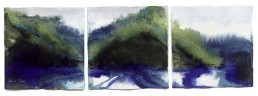 Meera Thompson abstract watercolor triptych