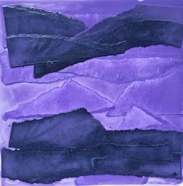 Meera Thompson acrylic on panels with collage elements - Study in Lavender 2