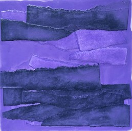 - acrylic on panels with collage elements - Study in Lavender 1