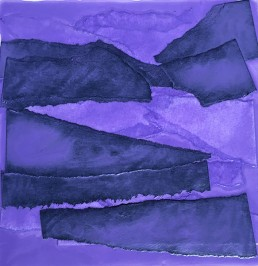 Meera Thompson - acrylic on panels with collage elements - Study in Lavender 3