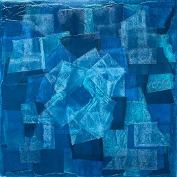 Meera Thompson - acrylic on panels with collage elements -Seeing Clearly