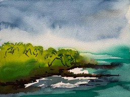 Meera Thompson - watercolor on paper